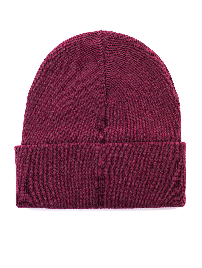 J BASIC MEN KNITTED BEANIE  IN TAWNY PORT