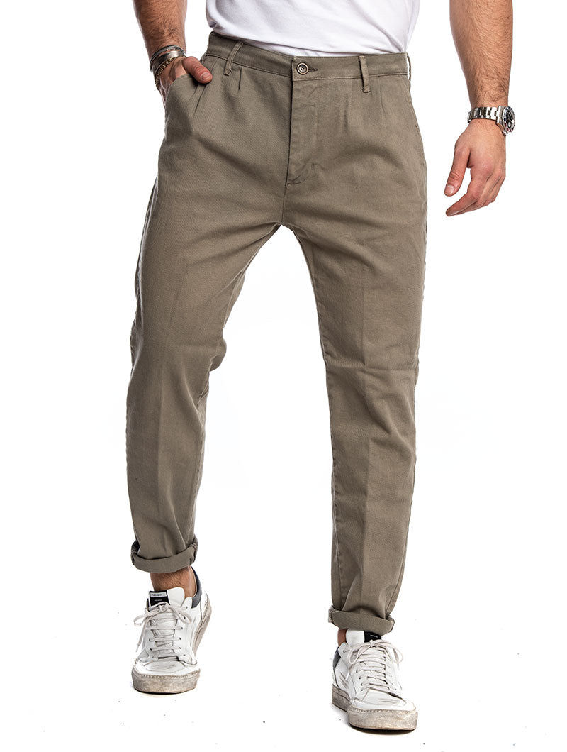 Men's Casual Pants in Beige – Nohow Style