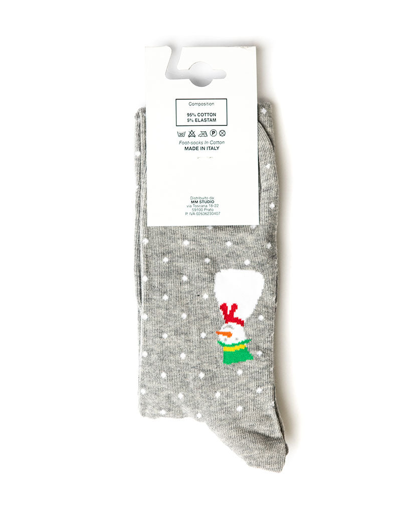 CHRISTMAS SOCKS IN GREY AND WHITE