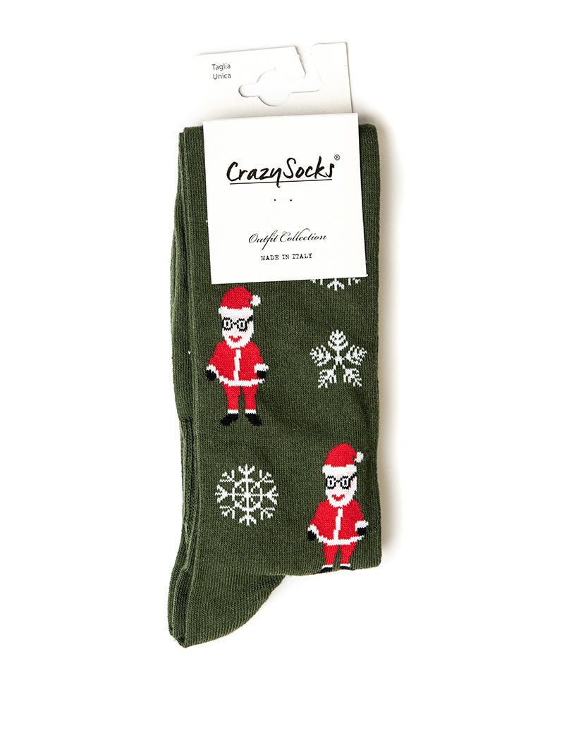 CHRISTMAS SOCKS IN MILITARY GREEN