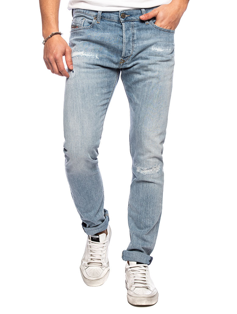 THEPPHAR-X L.32 DISTRESSED JEANS IN BLUE