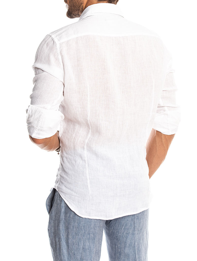 BADEN LINEN SHIRT IN WHITE