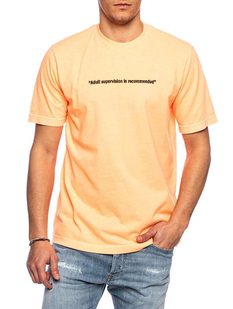 T-JUST PRINTED T-SHIRT IN LIGHT ORANGE