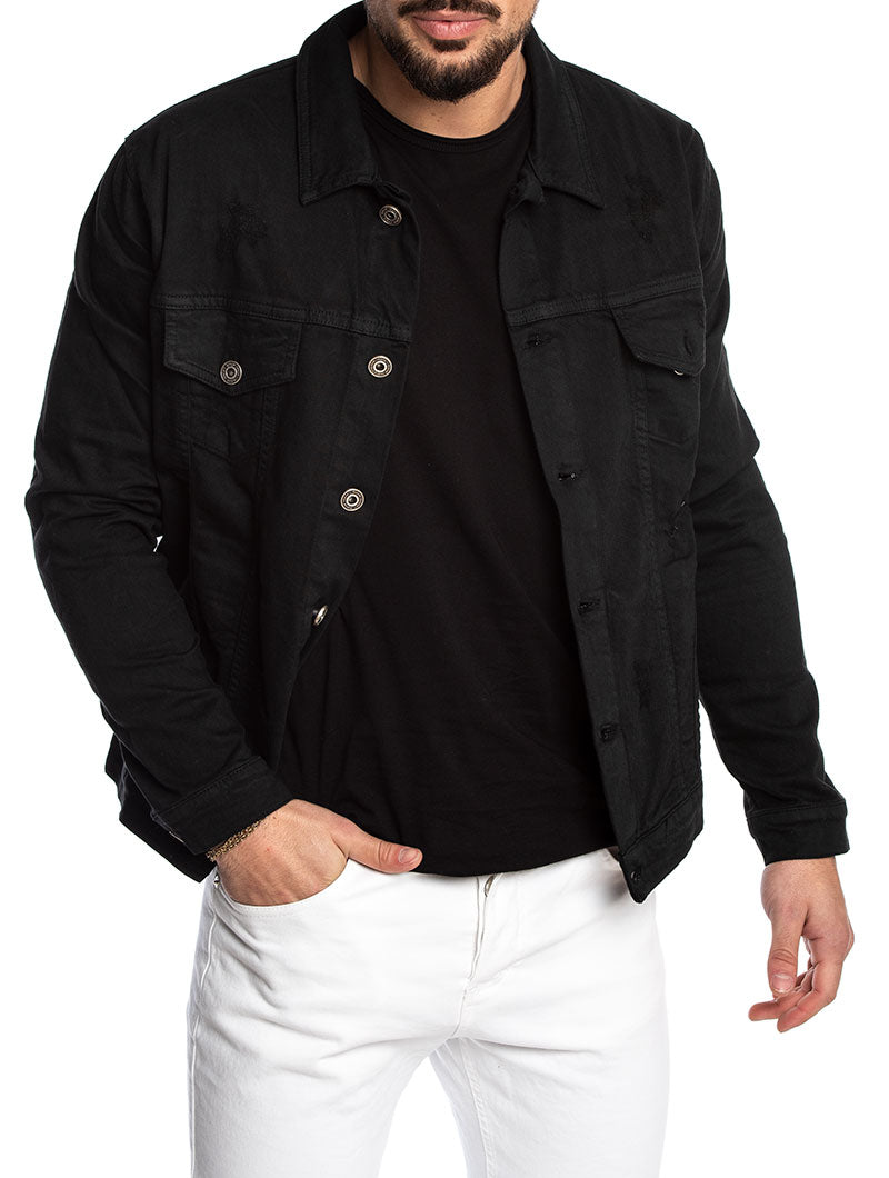 BRIZAN JEANS JACKET IN BLACK