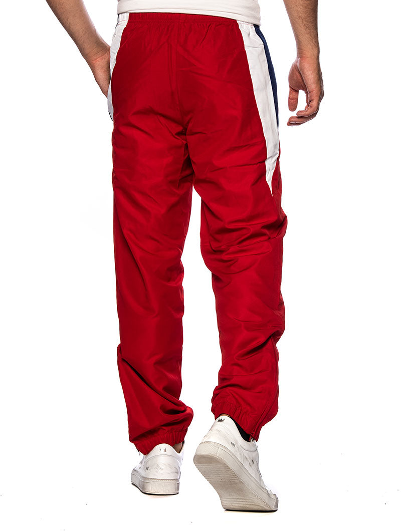 LACOSTE TRACKPANTS IN RED AND BLUE
