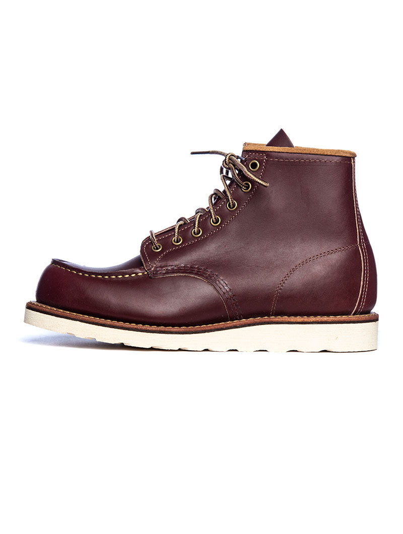 RED WING MOC TOE BOOTS IN DARK BROWN