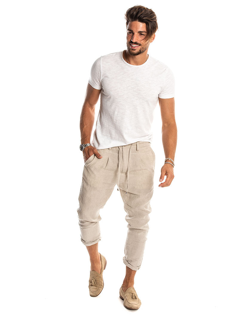 PHANTOM LACES PANTS IN BEIGE