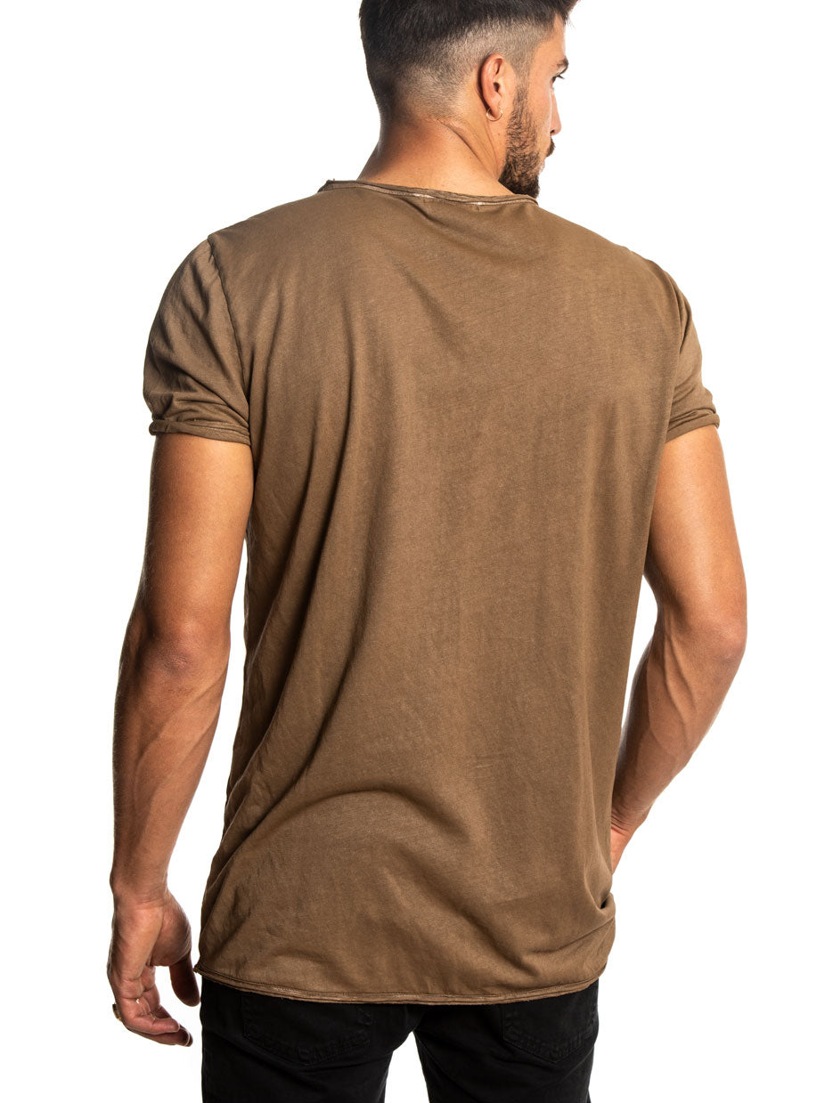 JESS POCKET T-SHIRT IN MUD
