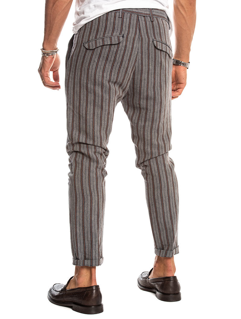 KOBO CASUAL PANTS IN STRIPED BLUE