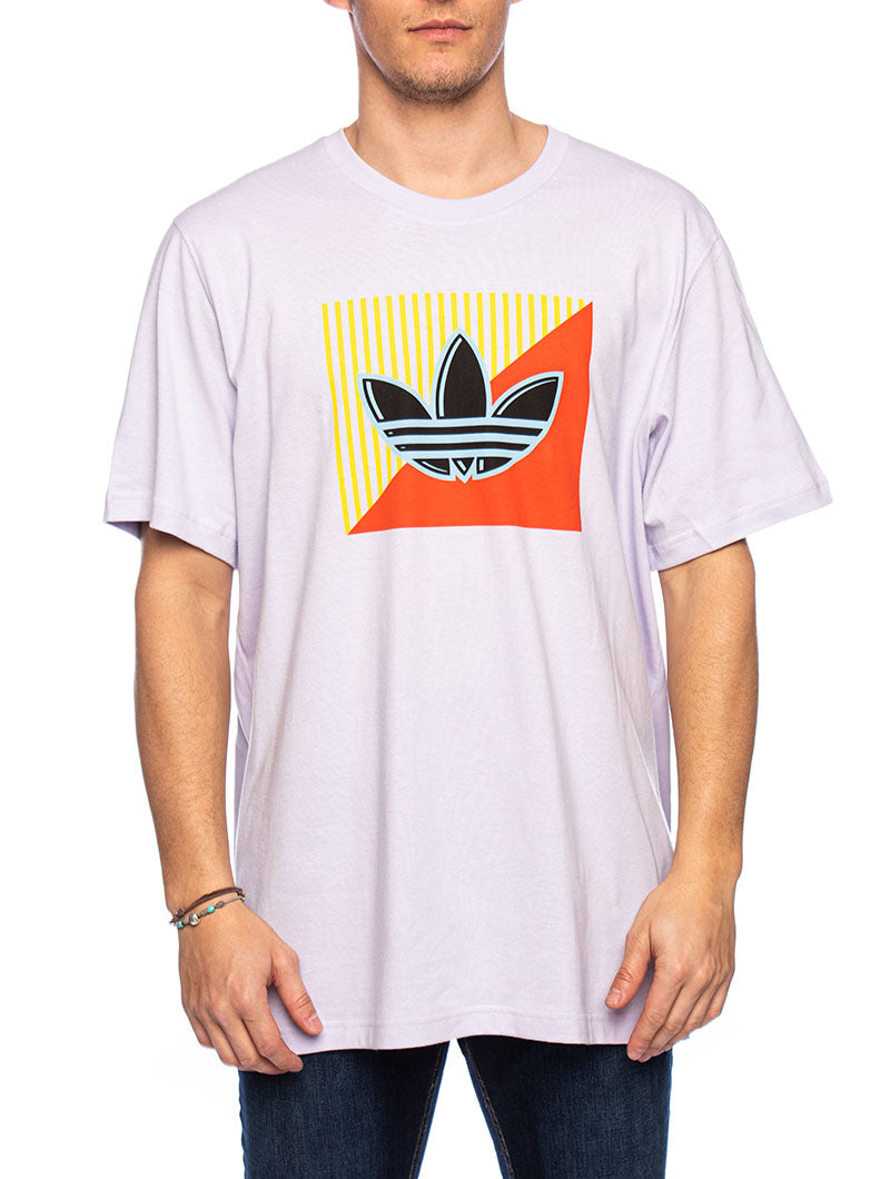 DIAGONAL LOGO T-SHIRT IN PURPLE