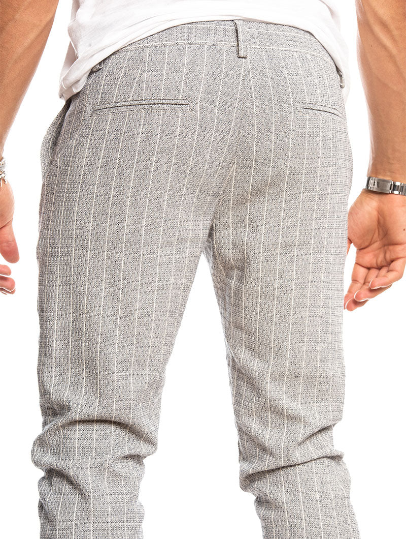 AKUTEN CHINO PANTS IN LIGHT GREY