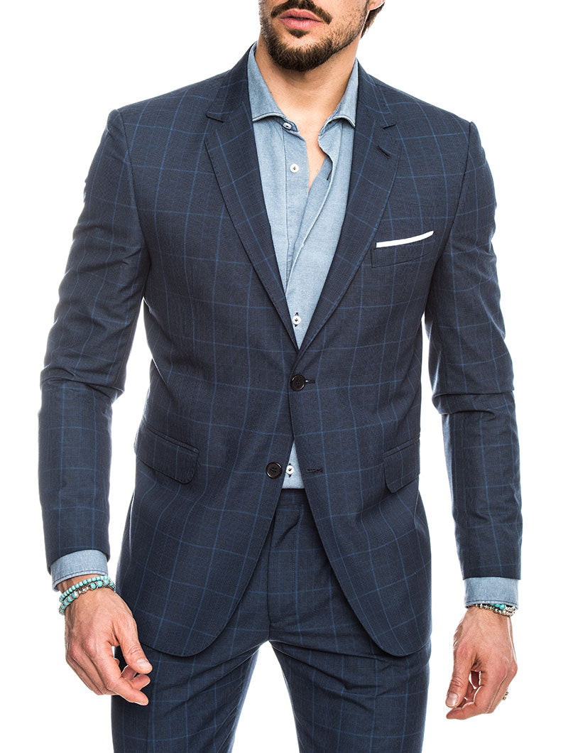 ERACLE COTTON SUIT IN BLUE