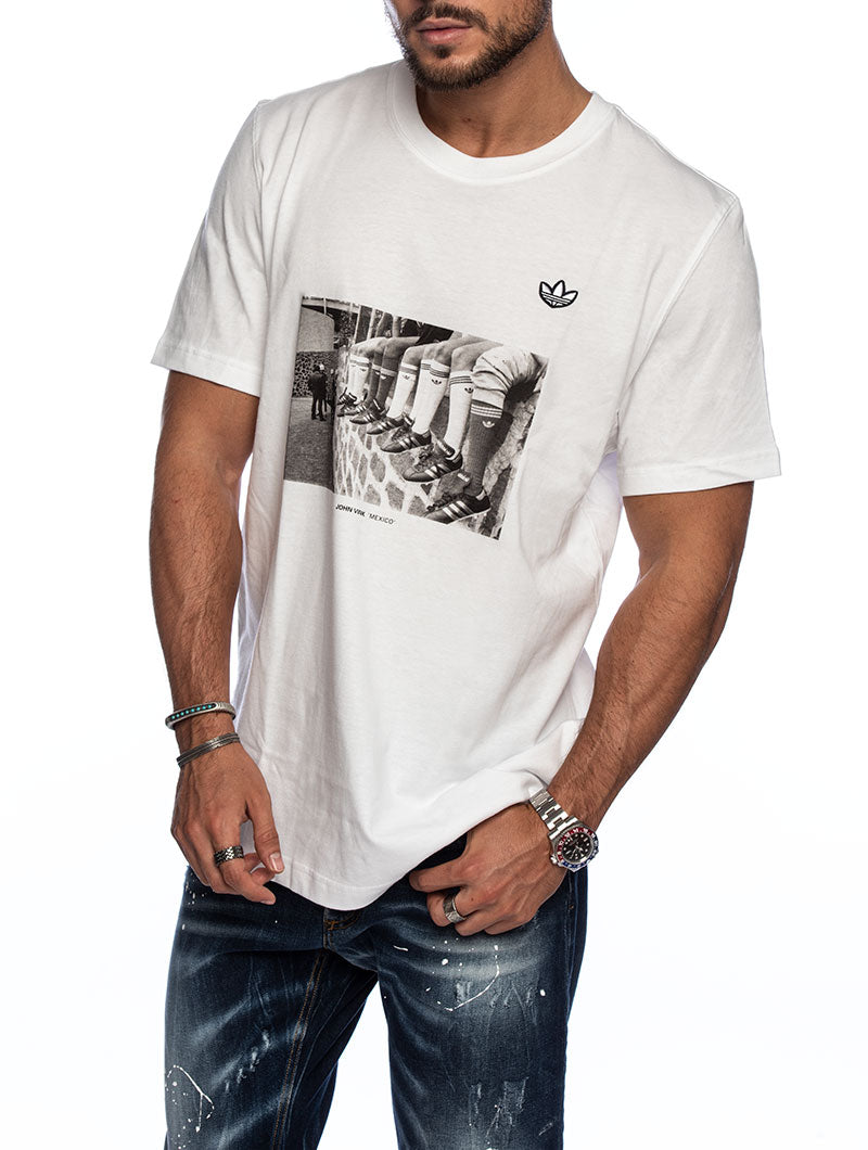 PHOTO TEE PRINTED T-SHIRT IN WHITE