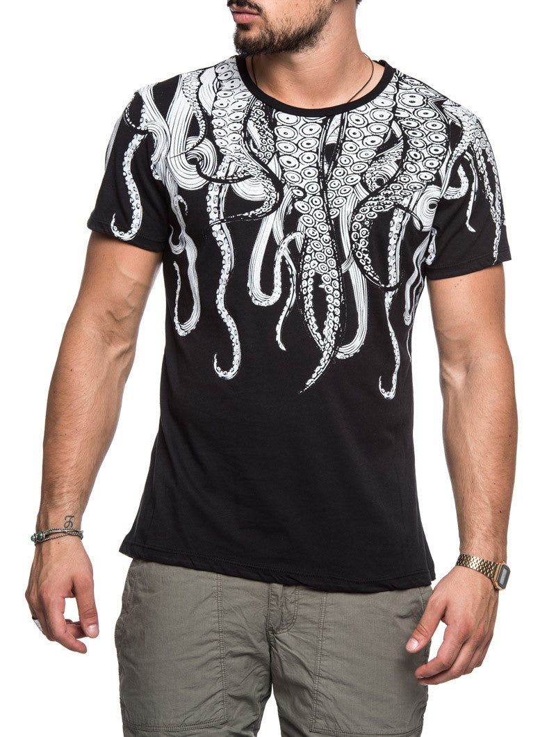 BLACK OCTOPUS T-SHIRT