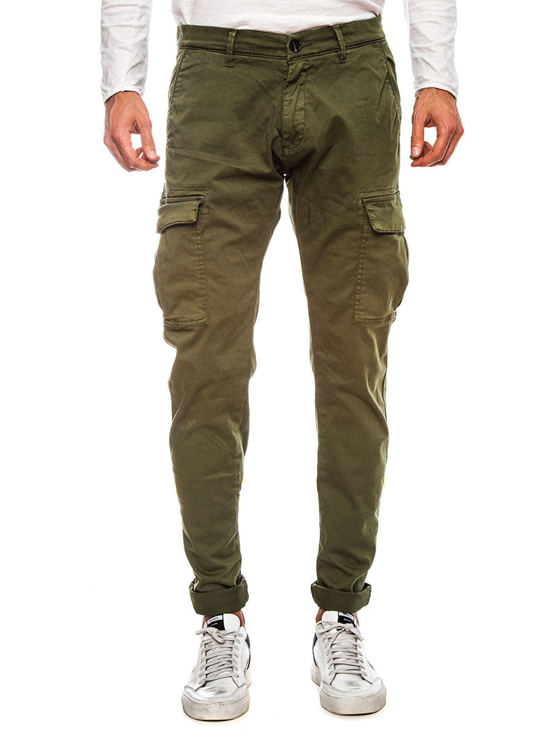 PATOS COTTON CARGO IN ARMY GREEN