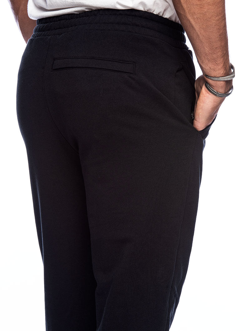 ICONIC MCS TRACK PANT MIX IN BLACK