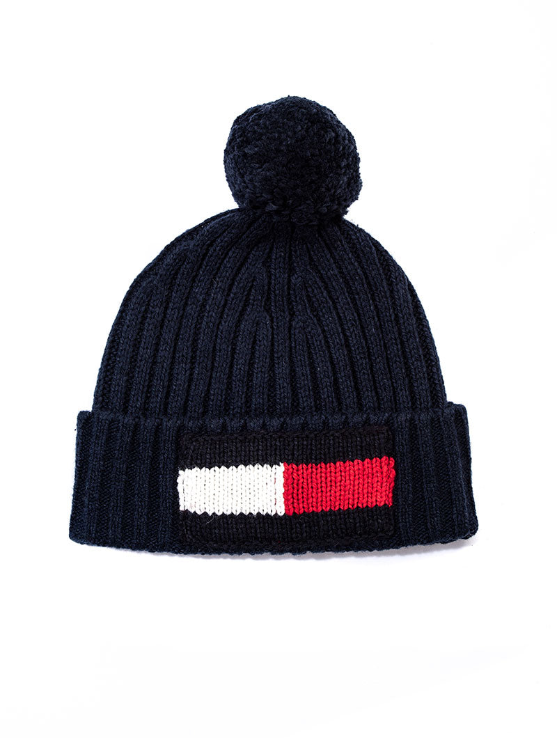 BIG FLAG BEANIE IN TOMMY NAVY