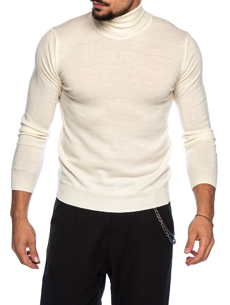 KOROS ROLLNECK SWEATER IN CREAM