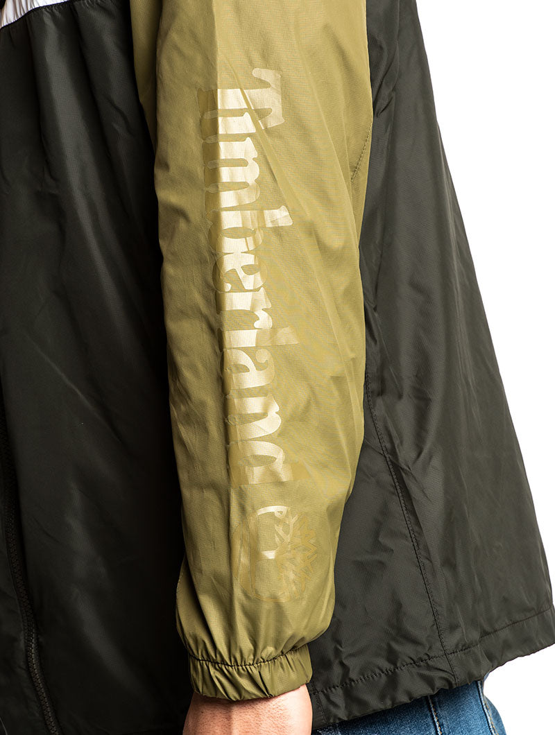 YCC HOODED FULL ZIP JCKT IN ARMY GREEN AND BLACK