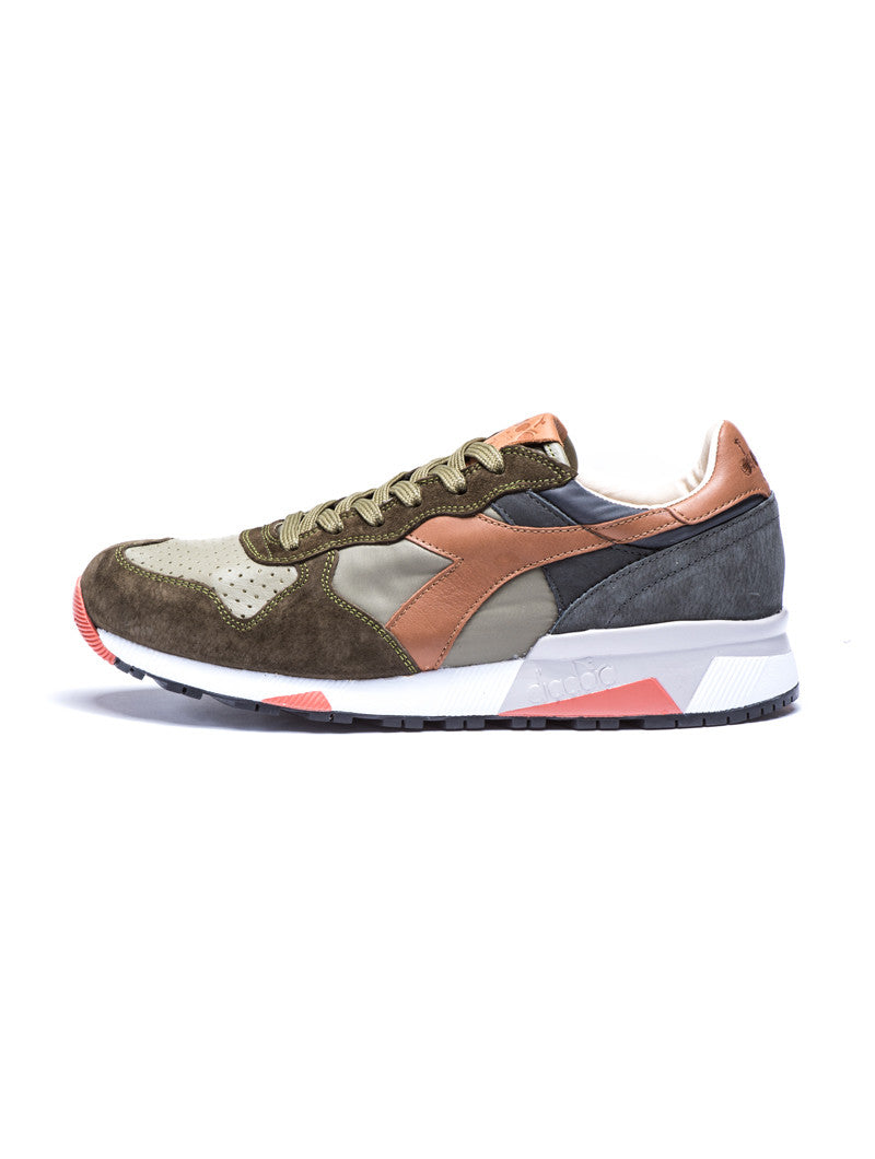 MEN'S SHOES | TRIDENT 90 NYL OLIVE SHOES | PREMIUM LEATHER AND TEXTILE |  DIADORA