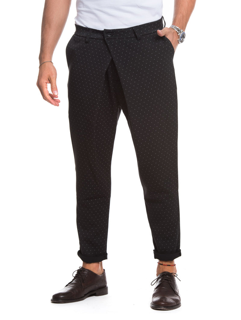MEN'S CLOTHING | JOSEPH POLKA-DOT TROUSERS IN BLACK | NOHOW
