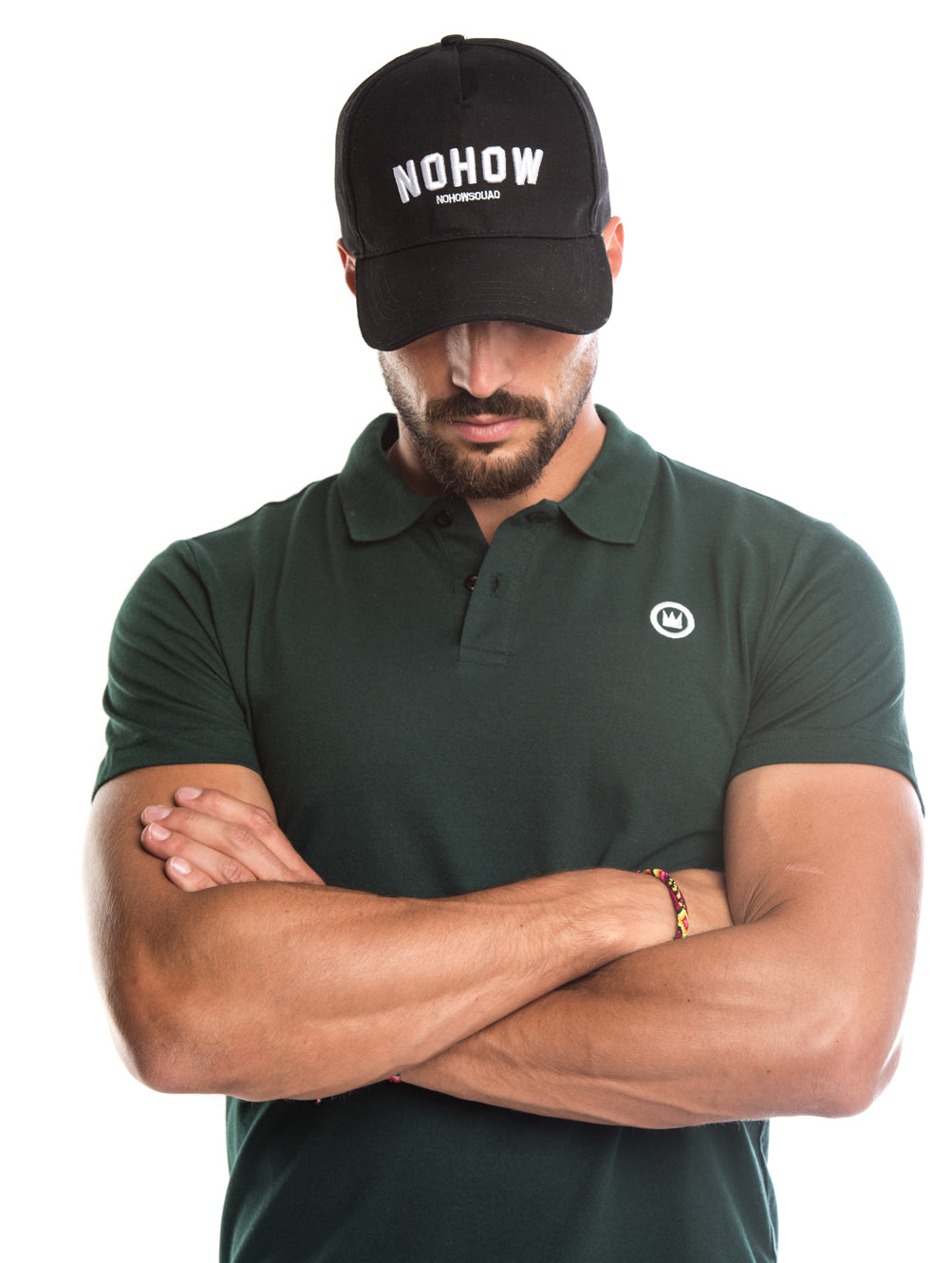 EDWARD COTTON POLO IN FOREST GREEN