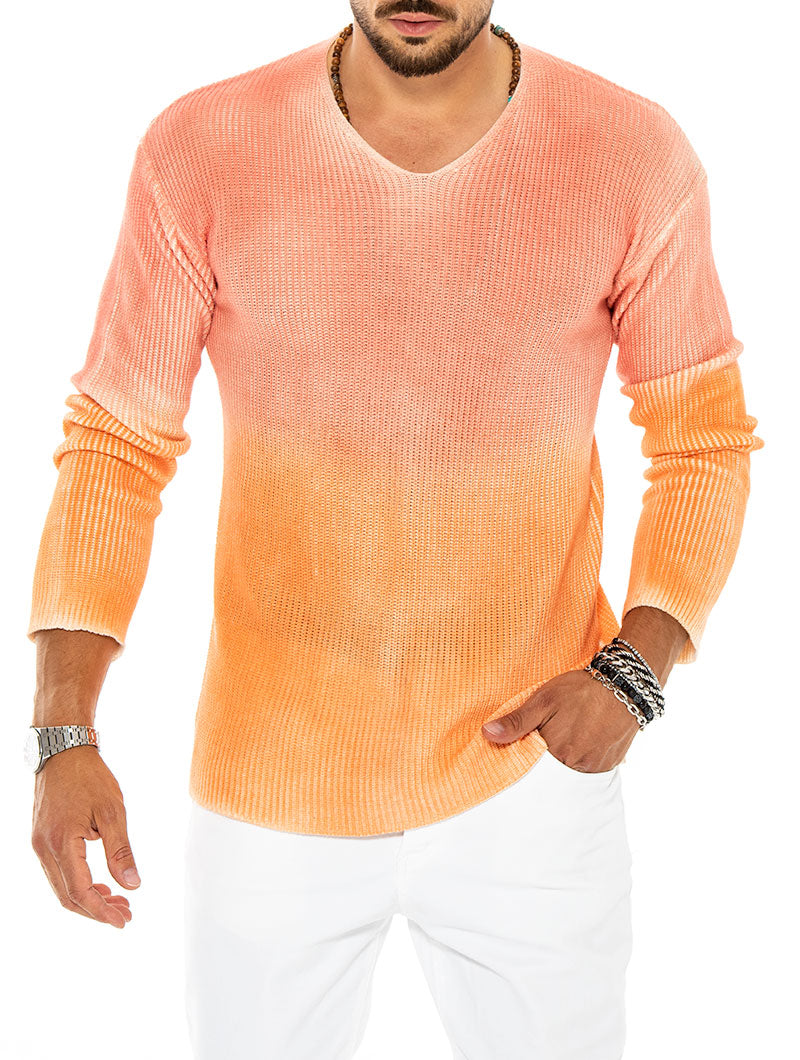 FLOYD V-NECK SWEATER IN PINK