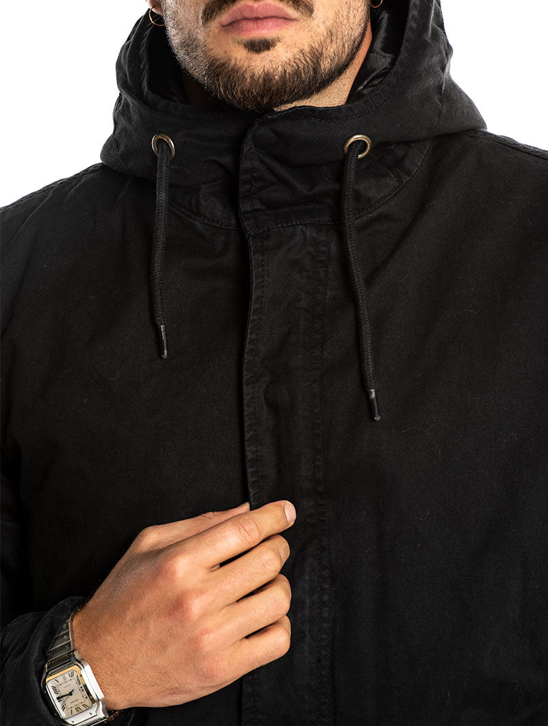 SLIM PARKA IN BLACK