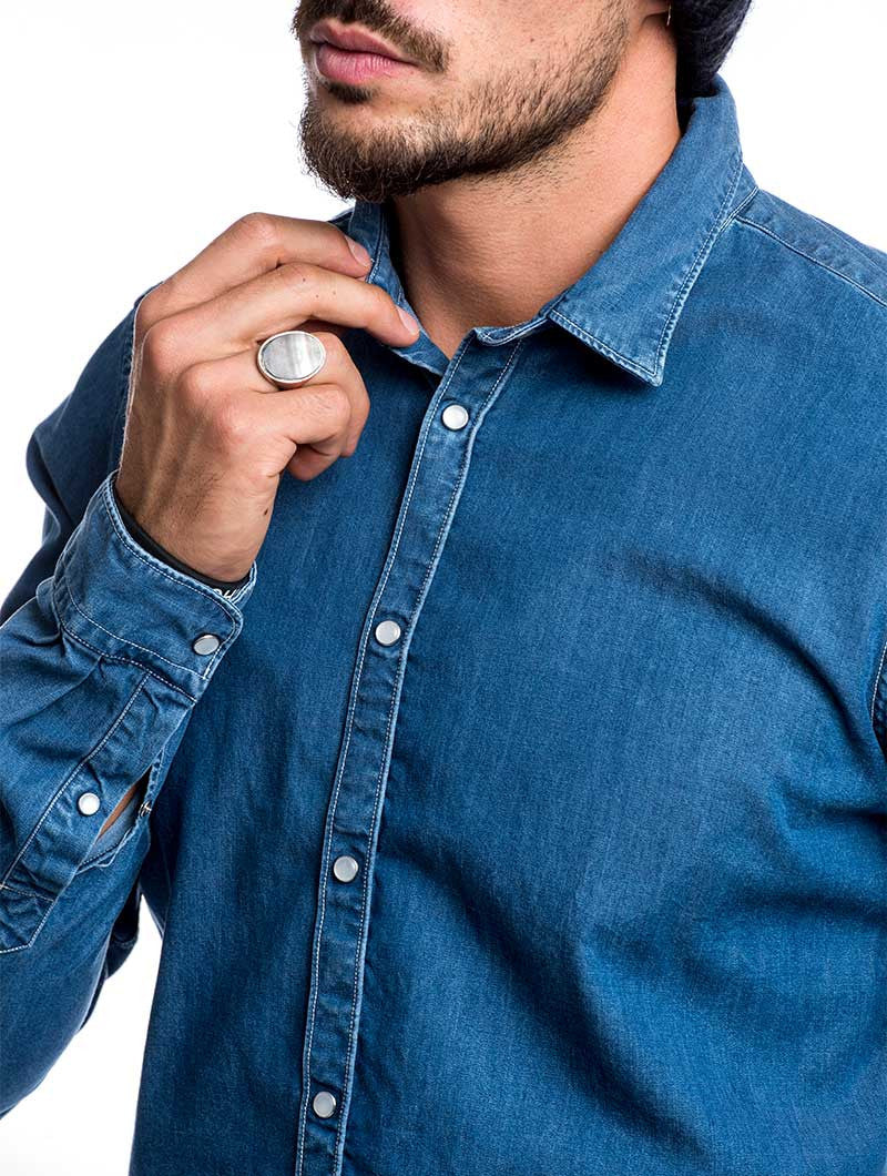 DENIM JEANS SHIRT