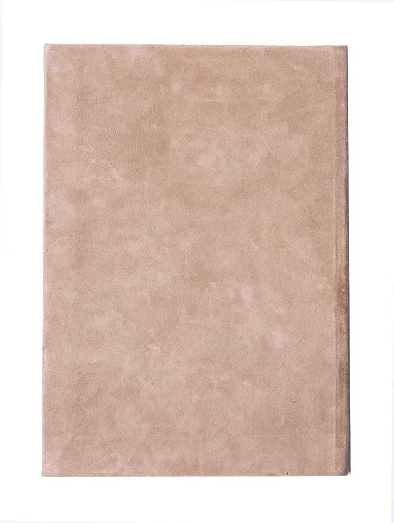 ACCESSORIES | BEIGE SUEDE LINED LARGE NOTEBOOK | LEATHER COVERING | A4 | MARIANO DI VAIO | NOHOW