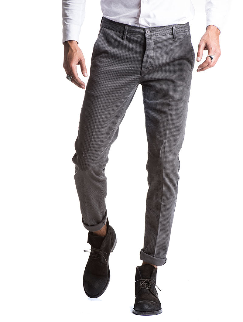 TUDOR CHINO TROUSERS IN GREY