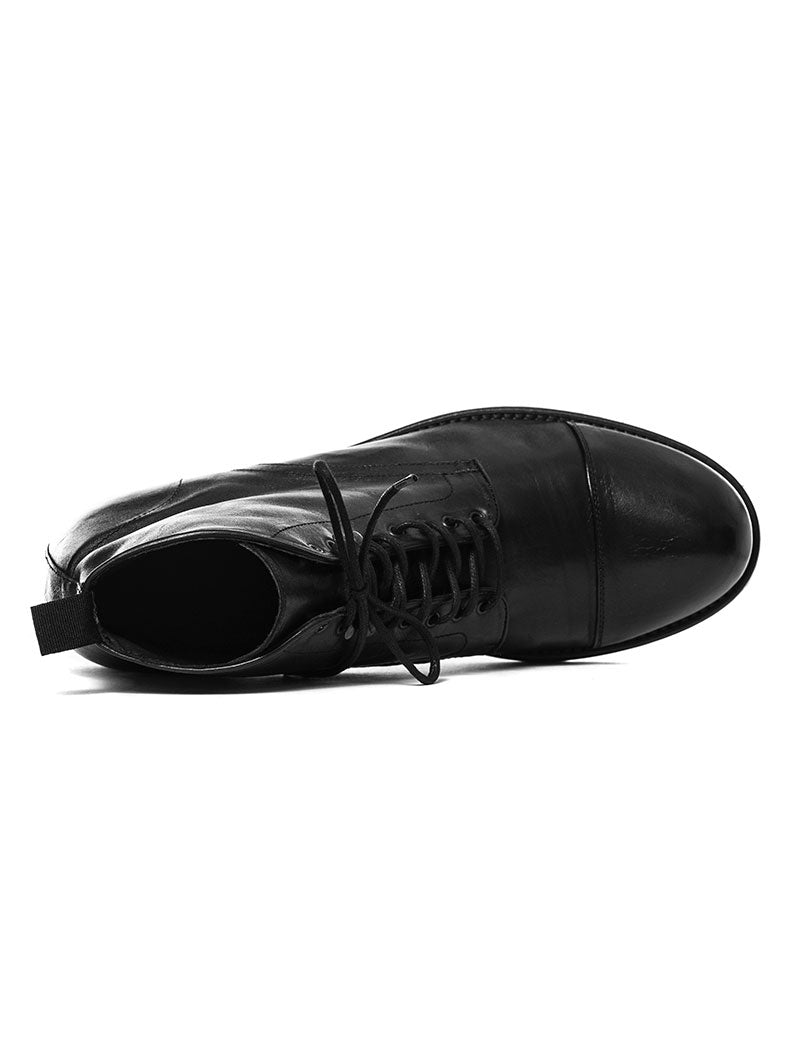 PUNK LEATHER SHOES IN BLACK