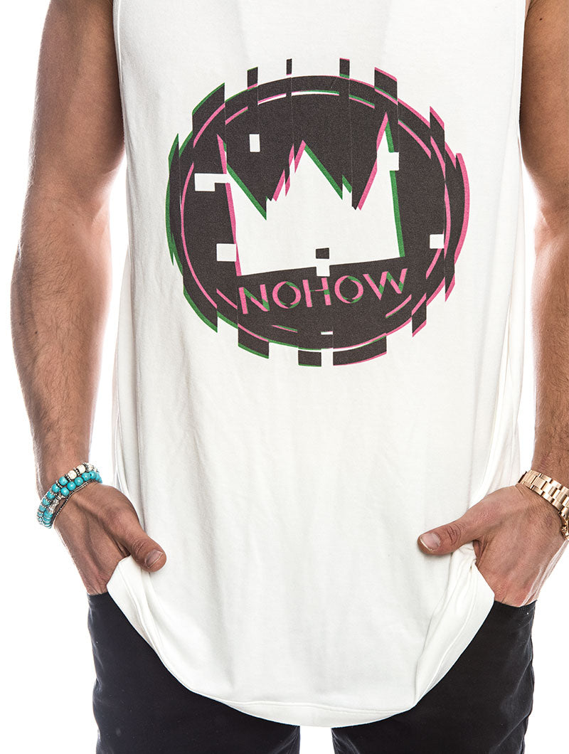 NOHOW LOGO TANK IN WHITE