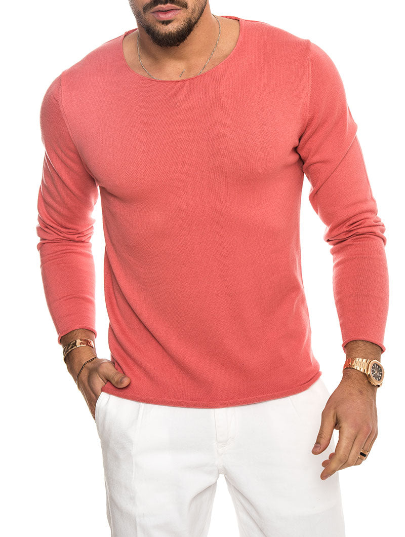 BES COTTON SWEATER IN WATERMELON