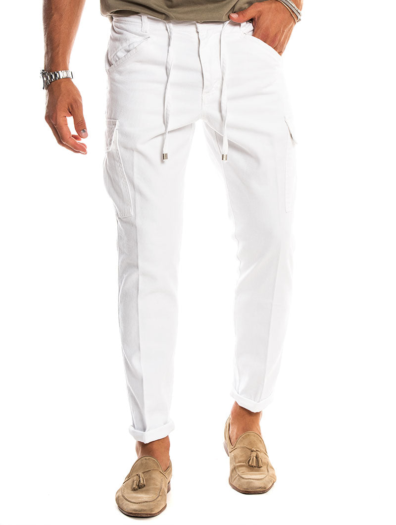 VENUS CARGO PANTS IN WHITE