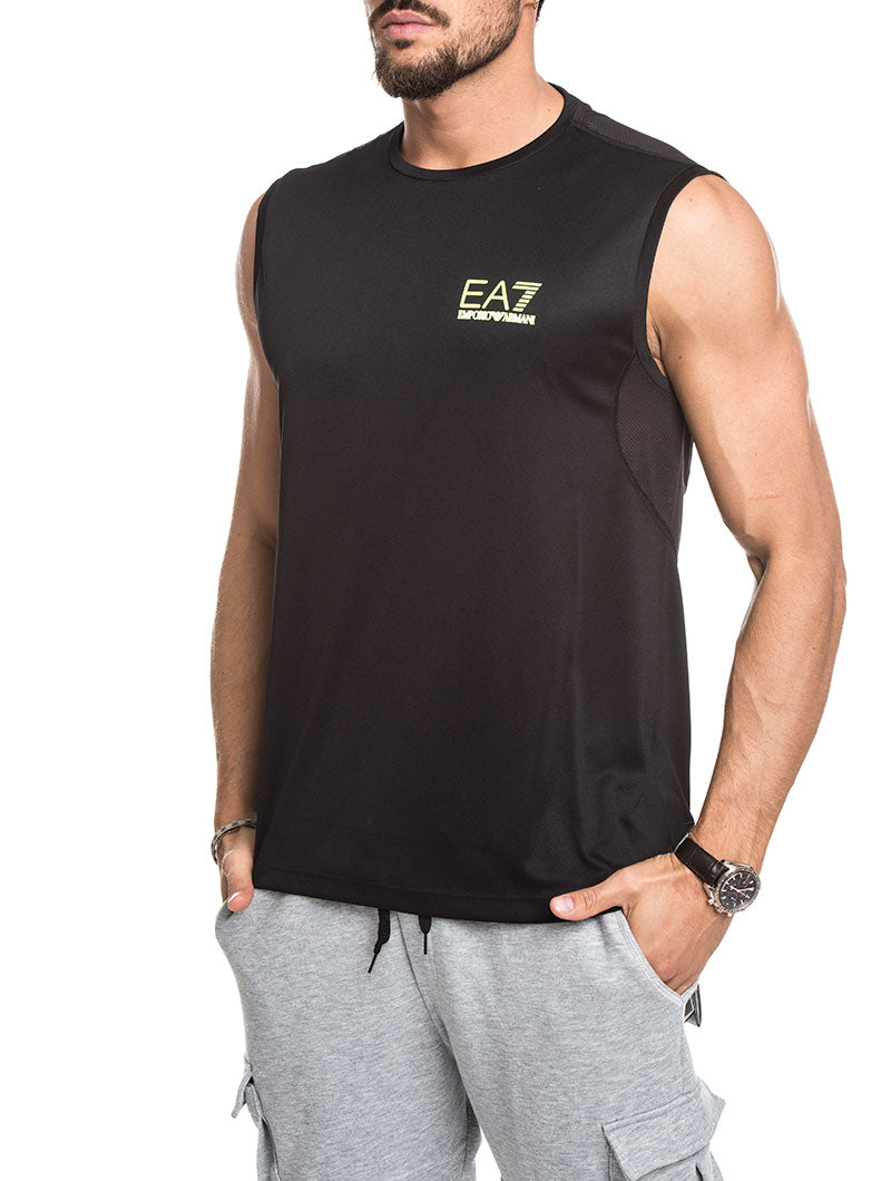 BLACK EA7 TECH T-SHIRT