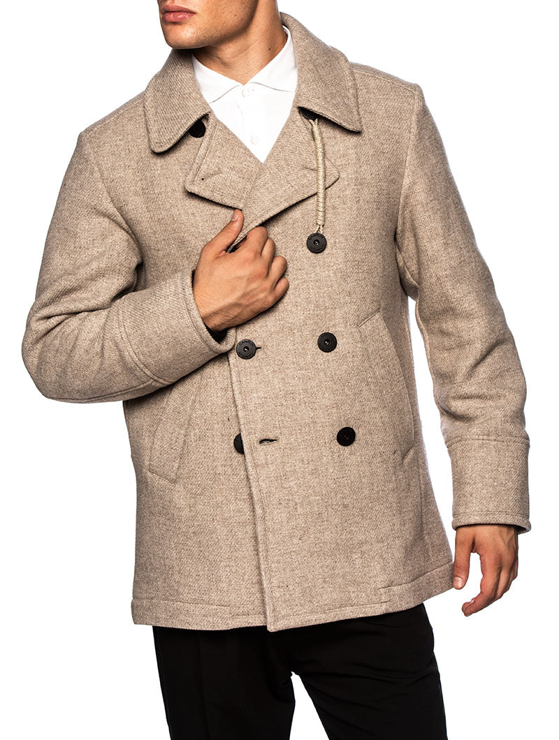 1893 PEACOAT IN TAUPE