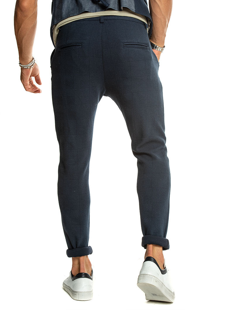 BERNY SQUARED PANTS IN BLUE NAVY