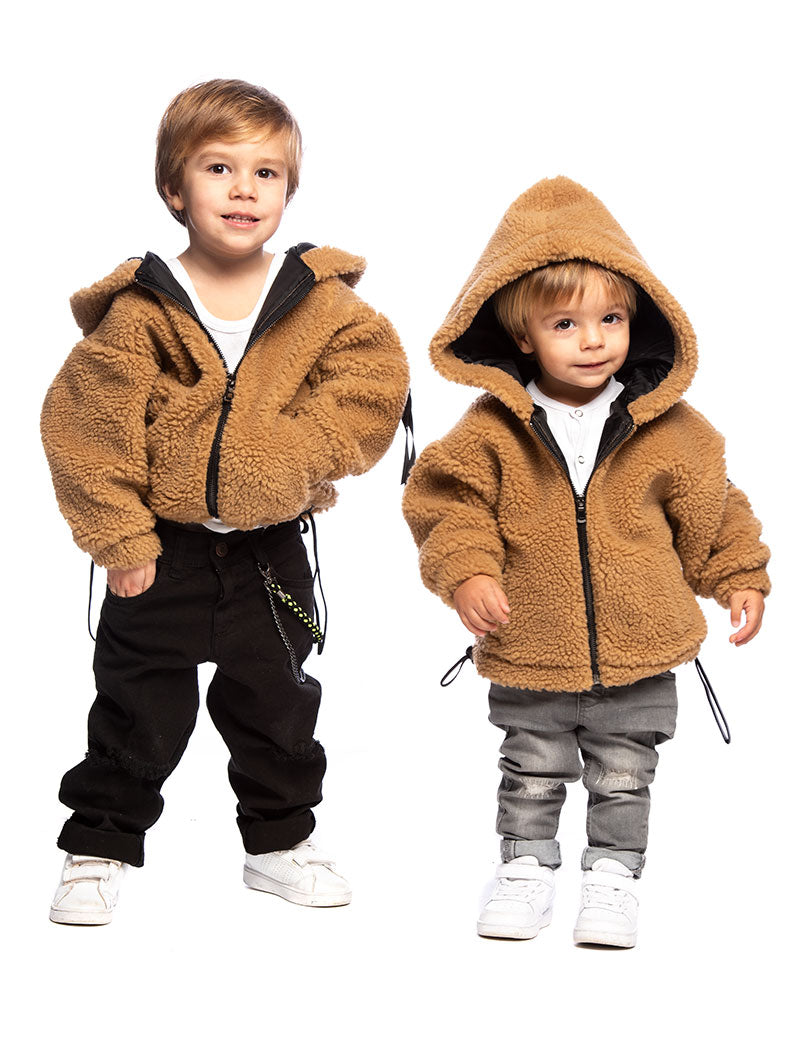 JUSTIN KID'S JACKET IN CAMEL