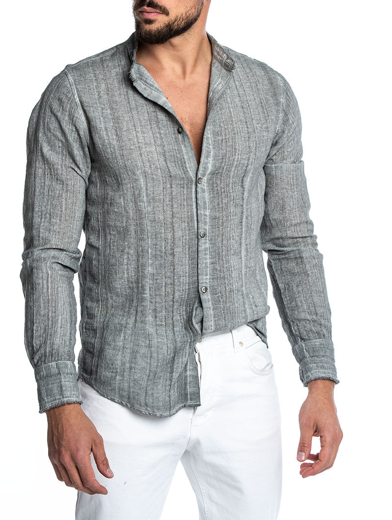 SABURO KOREAN SHIRT IN MID GREY