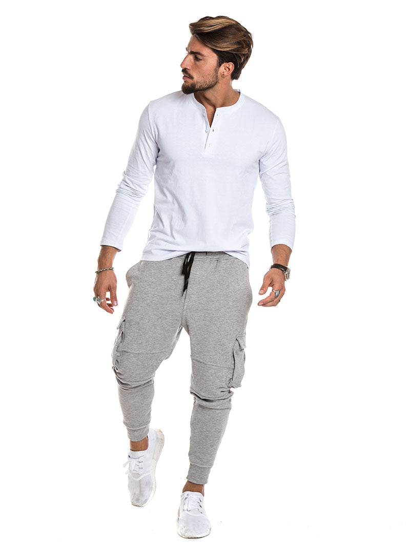 LONG SLEEVED SERAFINO IN WHITE