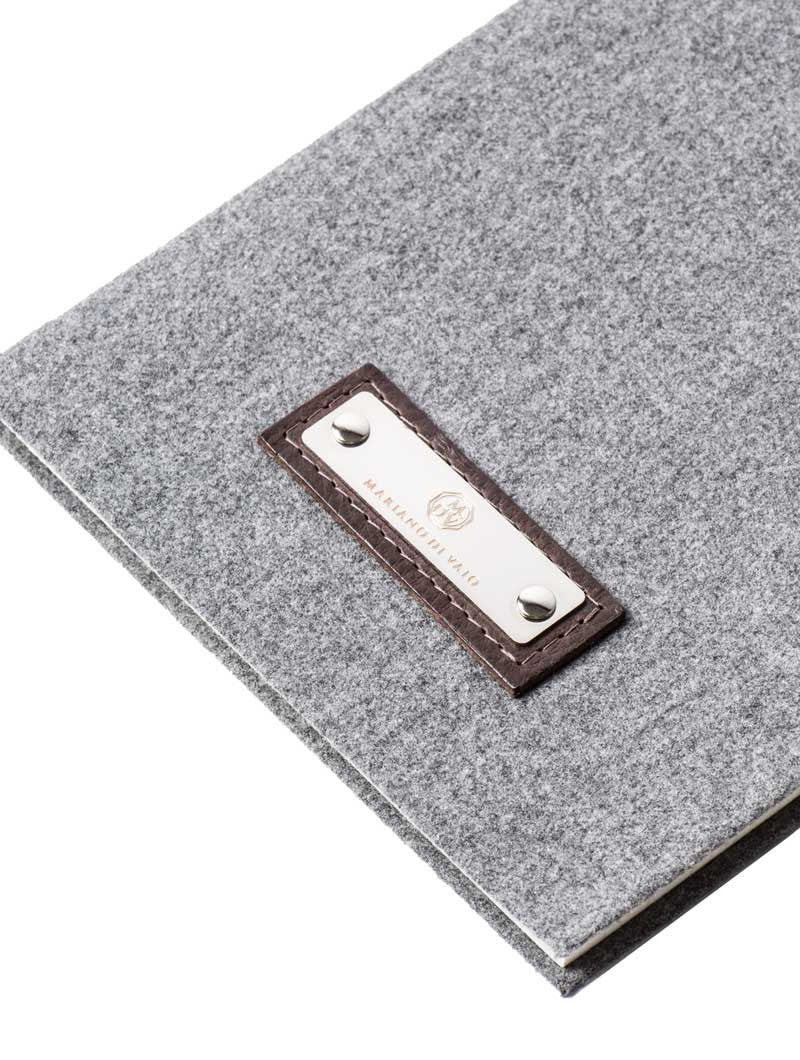 ACCESSORIES | GREY FLANNEL LINED MEDIUM NOTEBOOK | MARIANO DI VAIO | NOHOW