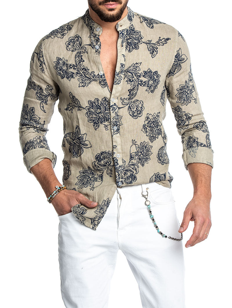 898b140af Men's Korean Shirt in Havana - Nohowstyle.com – Nohow Style