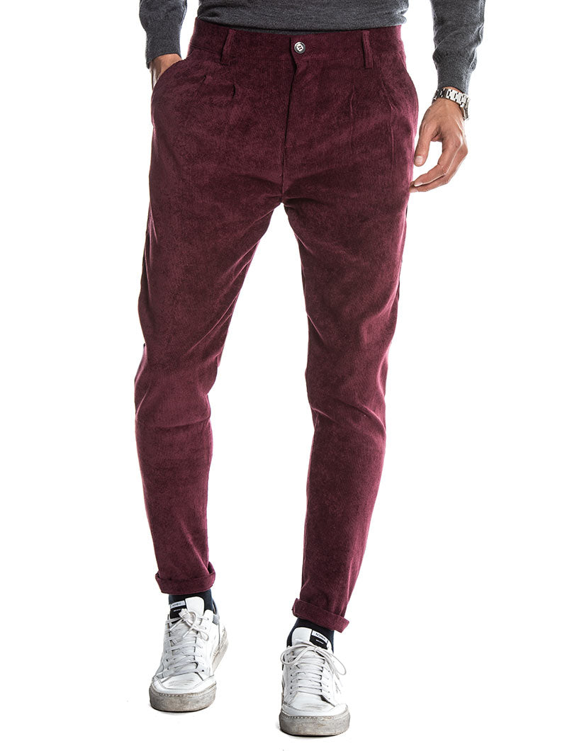 MAPLE CASUAL PANTS IN BORDEAUX