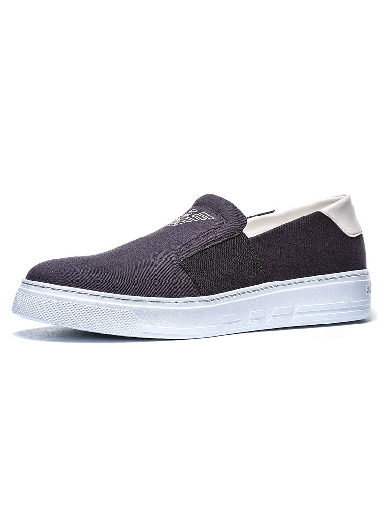 MAN LEATHER SNEAKER IN BLUE-OPTICAL WHITE