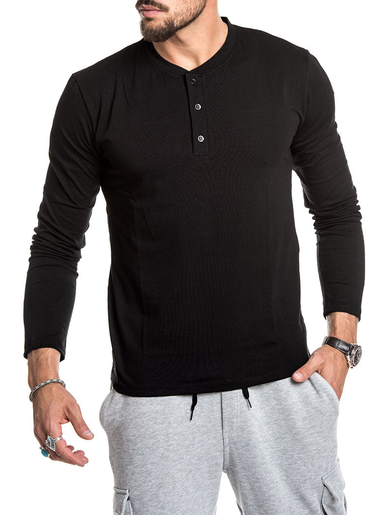 LONG SLEEVED SERAFINO IN BLACK