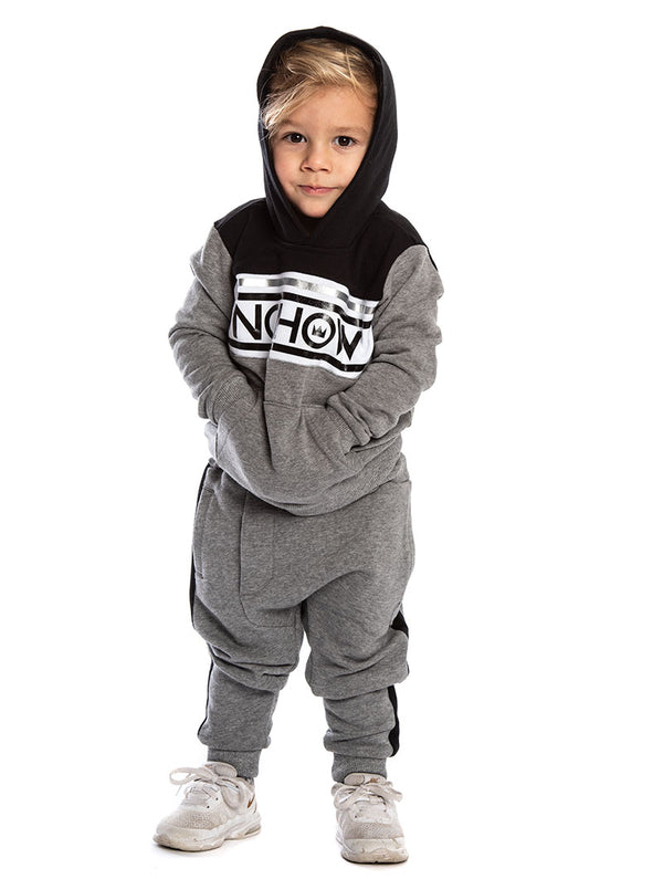 a9dcdc99790a PRANCER KIDS  TRACKSUIT IN BLACK AND GREY