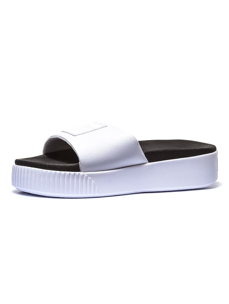 PLATFORM SLIDE WNS SANDALS IN WHITE