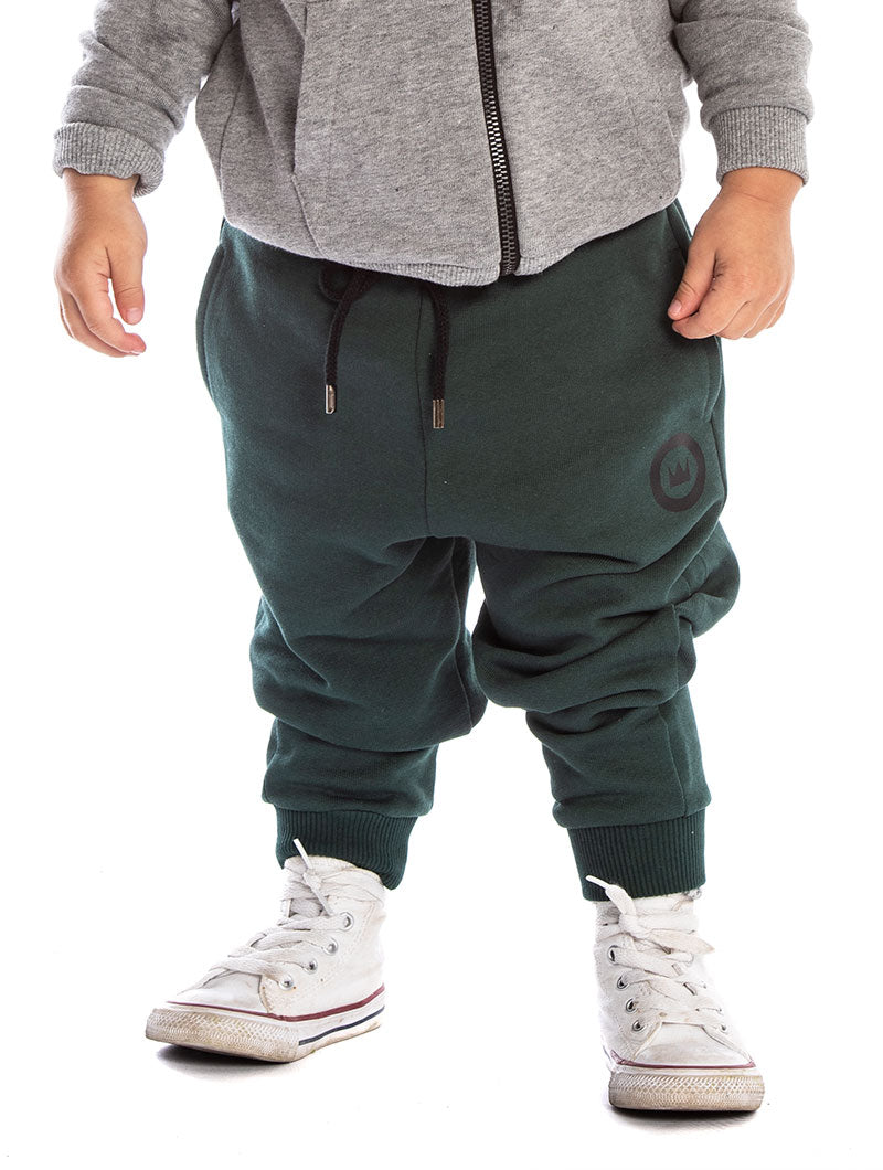 DASHER KIDS' TRACKSUIT IN GREEN AND GREY