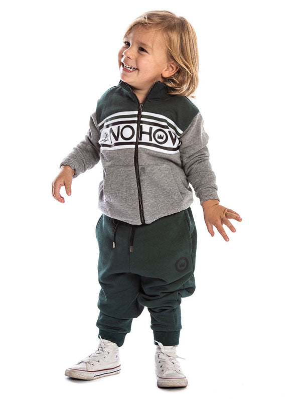 1d96a6ae1cc2 DASHER KIDS  TRACKSUIT IN GREEN AND GREY